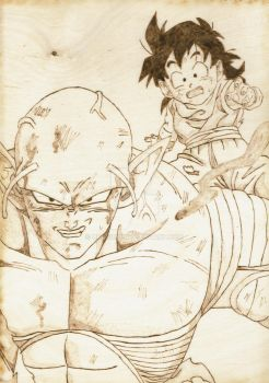 Piccolo and Gohan by ukas360