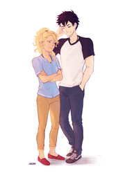 Percy and Annabeth by Alexgv-art