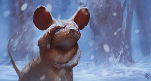 Muriel Mouse - Looking for shelter by Chris-Karbach