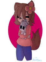 ART TRADE #14 Kate and snuffles by YahairaFlores