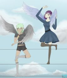 Two Birds On a Wire by SassyGhost