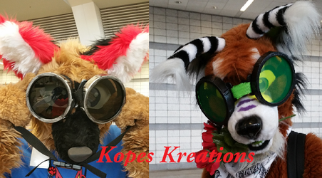 Furry Sized Goggles by kopeskreations