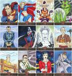 Superman: The Legend sketch cards by AtlantaJones