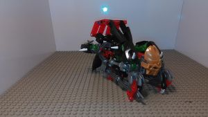 Skull Train Transformer (train mode) by sideshowOfMadness