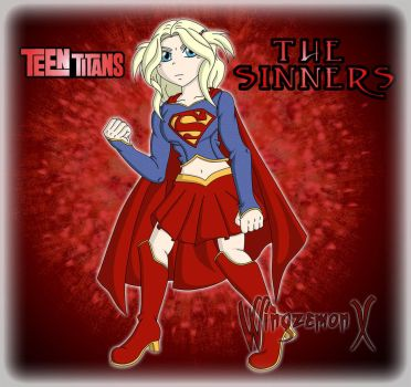 Teen Titans The Sinners - Supergirl V2 by WingzemonX