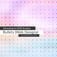 Web Bullets Photoshop and GIMP Brushes by redheadstock