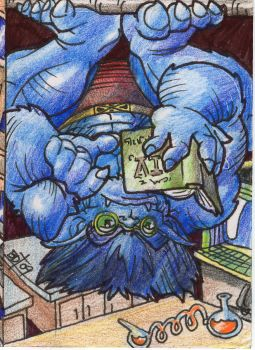 Beast Sketch Card 01 by btibke