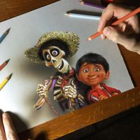 My portrait of Miguel and Hector from Coco by marcellobarenghi