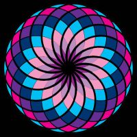 Spirograph Rainbow - Blue, Purple And Pink by Lily-the-pink