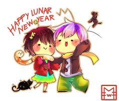 Happy Lunar new year by UltraCat7724