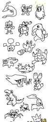 Pokemon from Memory with a Mouse by BlazeDGO