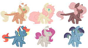 Mane 6 x Discord Shipping Adopts - CLOSED - by SpicyCrabRoll