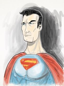 Superman iPad painting by enricobotta