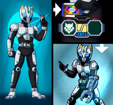 Commission - Kamen Rider Canvas by Malunis