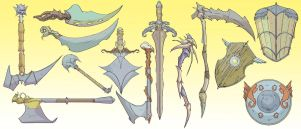 Fantasy weapons by ConceptMike