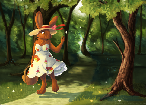 A Summer Walk by The-Hare