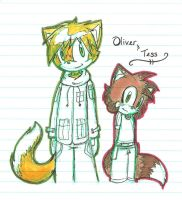 Oliver and Tess by Belly-Button-Monster