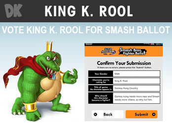 Vote King K. Rool for Smash Ballot by russellthedog