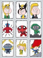 Family Guy Sketch Cards F by ElainePerna