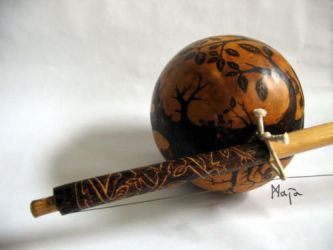 ornamented berimbau: Tree of life - gunga by MaiaRatynska