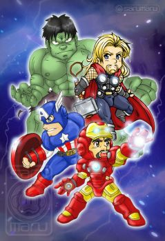 The Chibivengers!! by Sarumaru