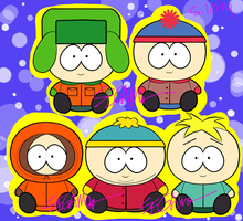 .SP. The Boys + Butters Pokedoll Style by SEGAMew