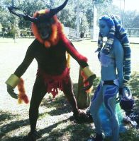 FFX Aeons - Ifrit and Shiva by ravenqueen22