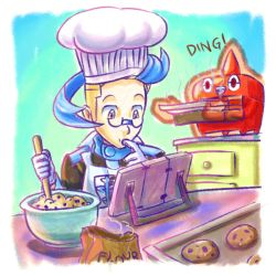 Colress and Rotom 3 - Baking Cookies by MellowMeloetta