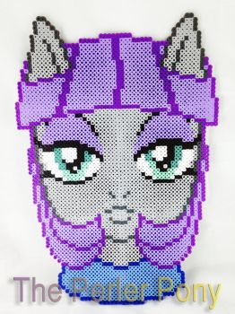 My Little Pony Perler Maud Pie Headshot Portrait by Perler-Pony
