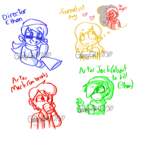 Youtuber Movie AU Sketches by GalaxyGal-11