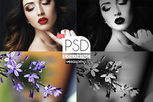 PSD Coloring 001 by vesaspring