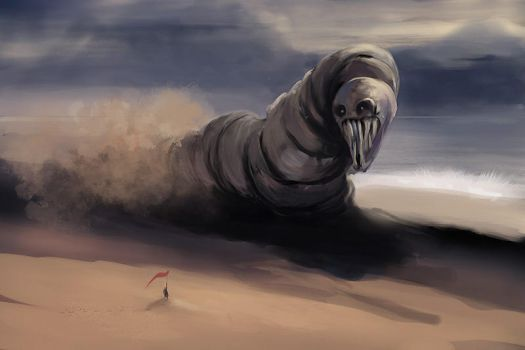 speed painting VII Big Worm by biotechbob