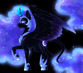 Nightmare Moon Redo by Marty-Draws