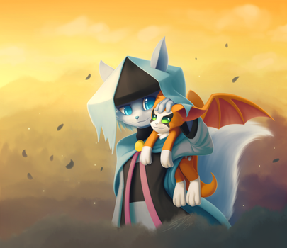 The tale of Dust and Fidget: Comm for Azulatios by streetdragon95