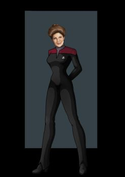 captain kathryn janeway (hair up) by nightwing1975