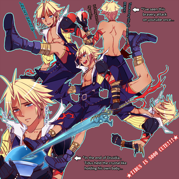 Dissidia Tidus is sooooo cute by ineedsomecake
