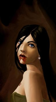 A Vampire with a Pearl Earring by smokescapes
