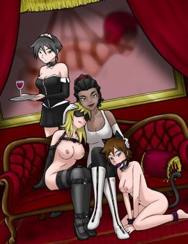 Girls On Couch by StereoscopeComics