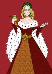 ASOIAF Sketch: Cersei Lannister by Arerethousa