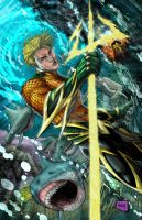 Aquaman Colors by hanzozuken