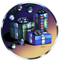 Gift Mimic - Patreon Holiday Stock Art #2 by indigowarrior