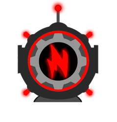 N. Light Up Helmet (activated) by venjix5
