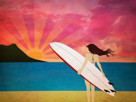 Follow the Sun: Surfer Girl by v-collins
