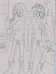 Lori and Leni's Get Along Suit lineart by JDogindy