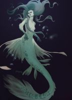 Mermaid by AmandaKieferArt