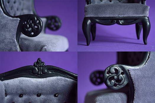 Grey Armchair Details by Katja-dollab