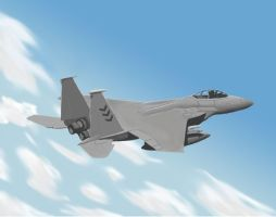 Fighter Jet-F-15 by taikunfoo