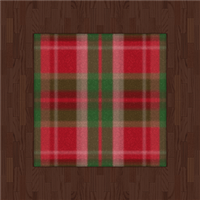 Russet Flooring And Tartan Rug (red) by Rosemoji