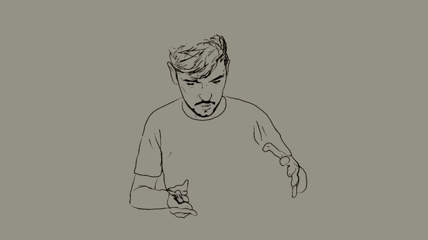 Antisepticeye animation (pre-color) by PastelDigi