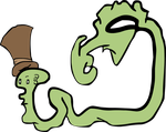 Random Snakey, Wormy, Ooze-like Thing in a Top Hat by Vigorousjammer